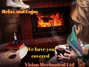 Vision Mechanical fireplace serviced