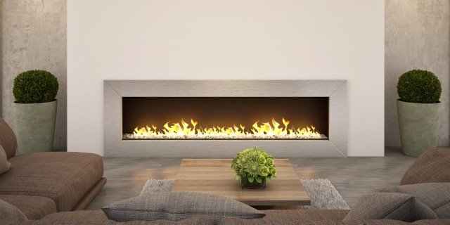 Gas or electric fireplace