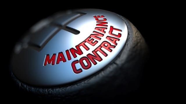 Maintenance contract