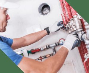 plumbing expert fixing commercial building