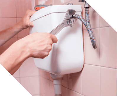 fixing a leaking toilet