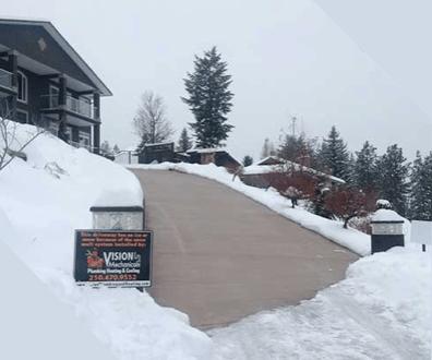 radiant heat snow melt system