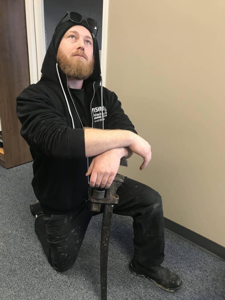 Aidan Kneeling